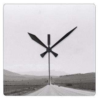 Relógio Quadrado A paisagem Kodak da estrada filma o pulso de