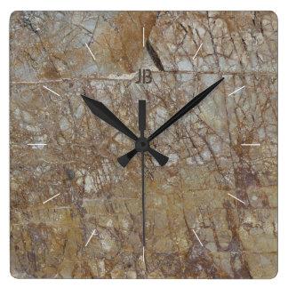 Relógio Quadrado A ROCHA RACHA a imagem de pedra textured natural