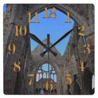 Relógio Quadrado Abadia de Tintern, monastério Cistercian, Wales