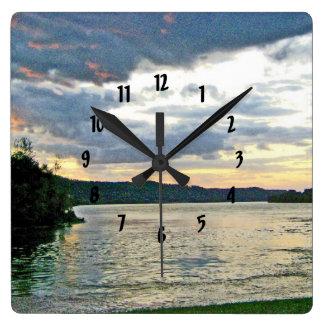Relógio Quadrado Alvorecer de um dia novo