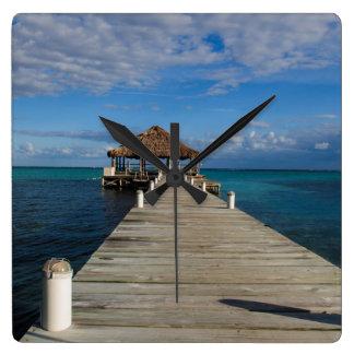 Relógio Quadrado Ambergris Caye Belize