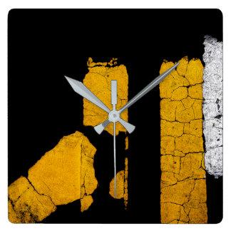 Relógio Quadrado Arte legal da pintura da estrada