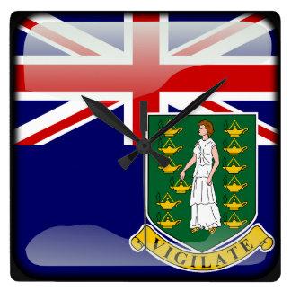 Relógio Quadrado Bandeira dos Virgin Islands