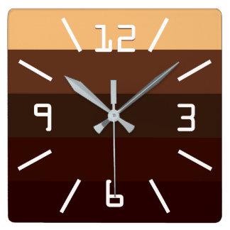 Relógio Quadrado Café e chocolate