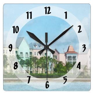Relógio Quadrado Caribe - saindo da ilha do paraíso