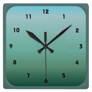 Relógio Quadrado Cerceta subaquática