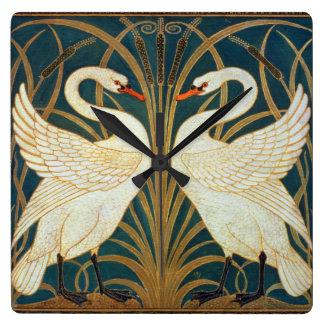 Relógio Quadrado Cisne do guindaste de Walter, precipitação e arte