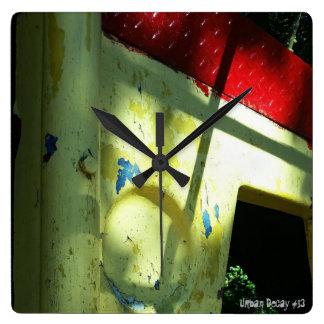 Relógio Quadrado Degradação urbana #13