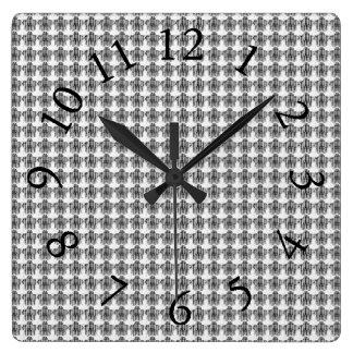 Relógio Quadrado Delicado-Conservador-Cinzento-Multi-Estilos