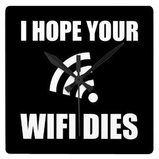 Relógio Quadrado Espere seus dados de Wifi