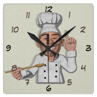 Relógio Quadrado Estilo dos desenhos animados do restaurante 2 do