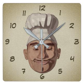 Relógio Quadrado Estilo dos desenhos animados do restaurante 3 do
