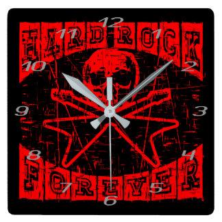 Relógio Quadrado hard rock para sempre