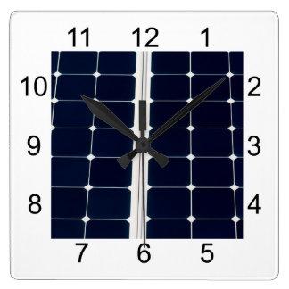 Relógio Quadrado Imagem do painel de energias solares engraçada