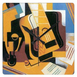 Relógio Quadrado Juan Gris - fotografia da arte abstracta da