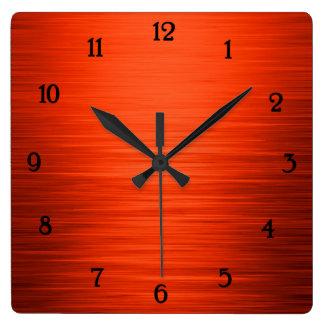 Relógio Quadrado Laranja brilhante elegante pulso de disparo de