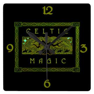 Relógio Quadrado Mágica celta - a grande árvore