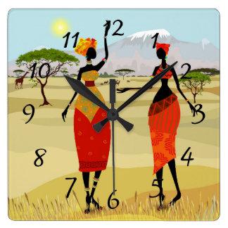 Relógio Quadrado Mulheres da animação de Kenya
