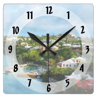 Relógio Quadrado O porto de St George, Bermuda