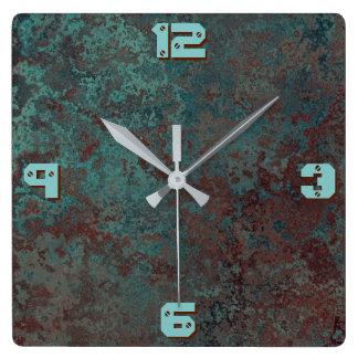 """Relógio Quadrado """" O pulso de disparo de cobre do impressão """"da"""