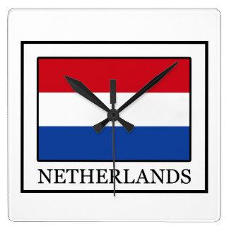 Relógio Quadrado Países Baixos