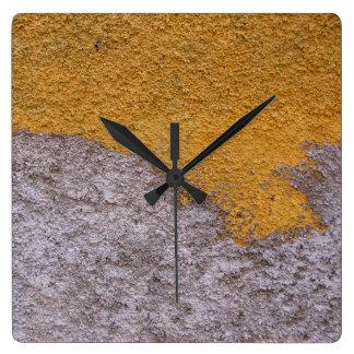 Relógio Quadrado Parede crua áspera da construção de Beton nenhuns