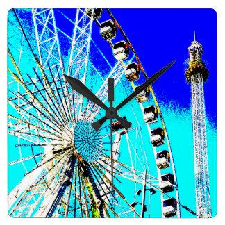 Relógio Quadrado parque de diversões da feira de divertimento de
