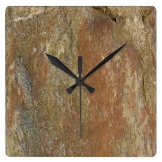 Relógio Quadrado Pedra