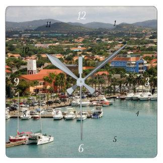 Relógio Quadrado Porto de Aruba