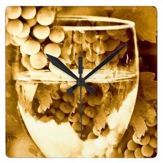 Relógio Quadrado Presentes antigos da arte do vinho