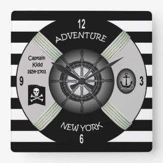 Relógio Quadrado ~Privateer~Pirate da galera da aventura do ~ do