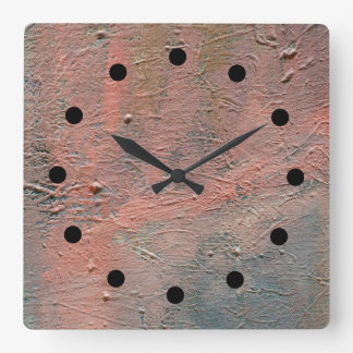 Relógio Quadrado Pulso de disparo acrílico abstrato de Impasto