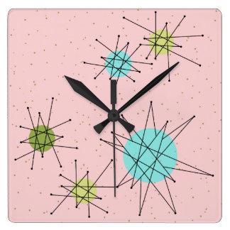 Relógio Quadrado Pulso de disparo de parede atômico icónico