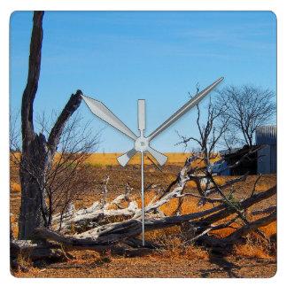 Relógio Quadrado Pulso de disparo de parede australiano da paisagem