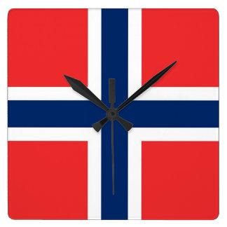 Relógio Quadrado Pulso de disparo de parede com a bandeira de