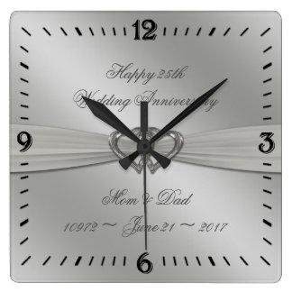Relógio Quadrado Pulso de disparo de parede do aniversário de