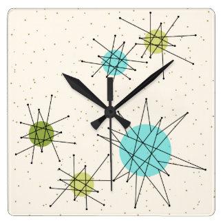 Relógio Quadrado Pulso de disparo de parede quadrado atômico