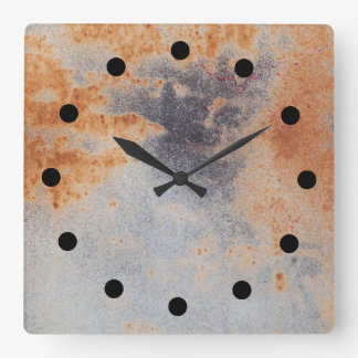 Relógio Quadrado Pulso de disparo oxidado do grunge