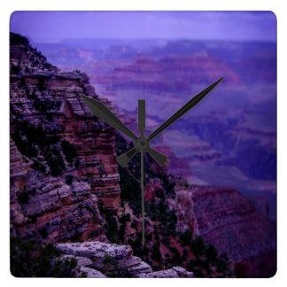 Relógio Quadrado Pulso de disparo roxo do Grand Canyon