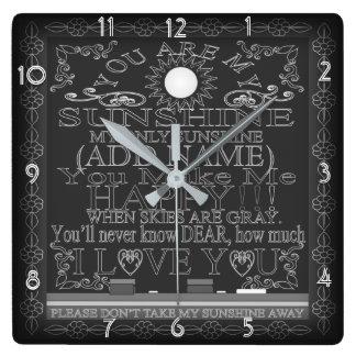 Relógio Quadrado Quadro do vintage você é meu pulso de disparo da