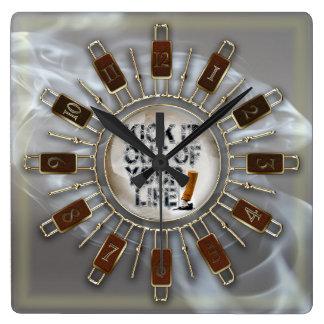 Relógio Quadrado Retroceda-o fora de sua vida!