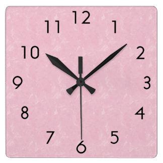 Relógio Quadrado Rosa e preto