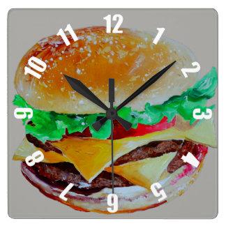 Relógio Quadrado servido muito rapidamente