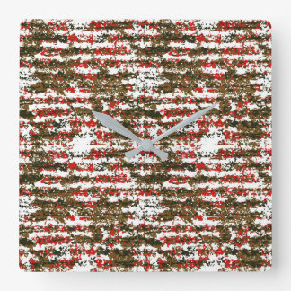 Relógio Quadrado Teste padrão abstrato Textured Grunge