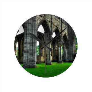 Relógio Redondo Abadia de Tintern, monastério Cistercian, Wales