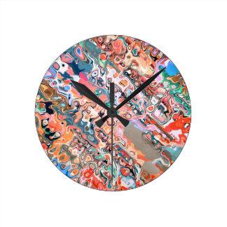 Relógio Redondo Abstrato Textured colorido