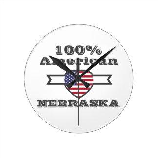 Relógio Redondo Americano de 100%, Nebraska
