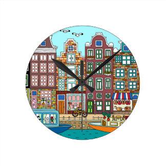 Relógio Redondo Amsterdão