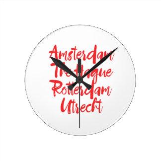 Relógio Redondo Amsterdão Haia Rotterdam Utrecht