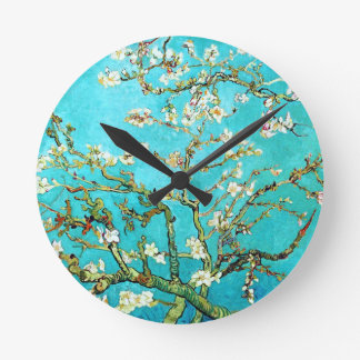 Relógio Redondo Árvore de amêndoa de florescência de Vincent van